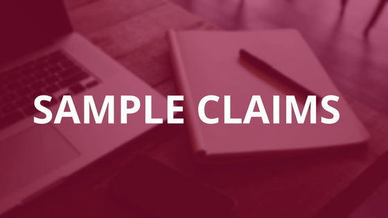 Sample Claims Graphic